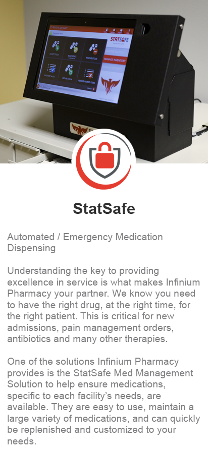 Infinium Pharmacy StatSafe Med Management System